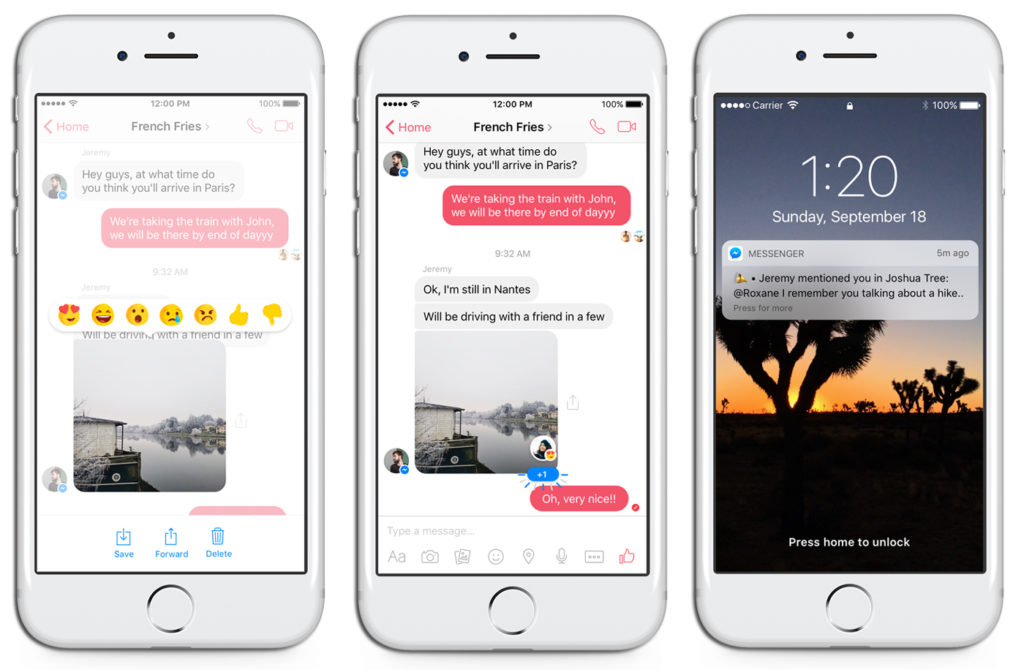 Facebook Messenger Adds Reactions and Mentions For Chats