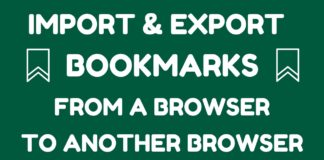 How to Import and Export Bookmarks from a Browser to another Browser