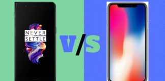 OnePlus 5 vs Apple iPhone X