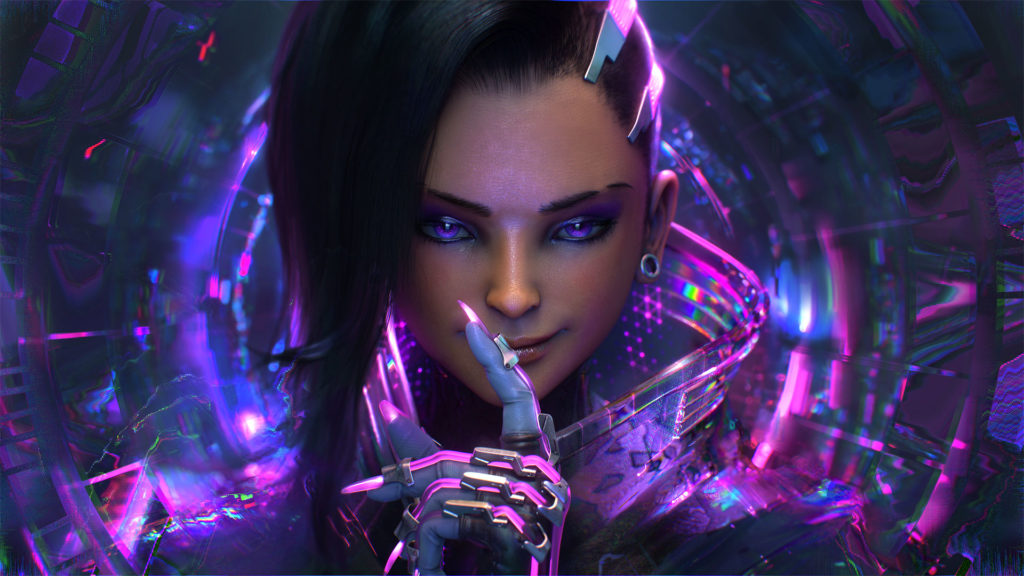 sombra overwatch hd wallpapers