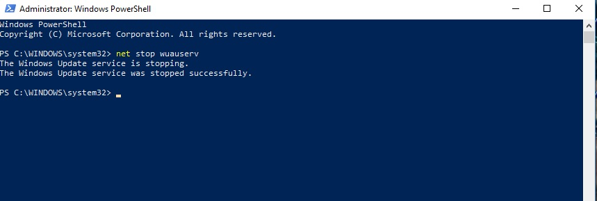 windows 10 update not working