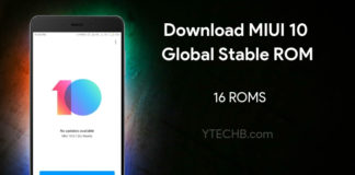 Download MIUI 10 Global Stable ROM