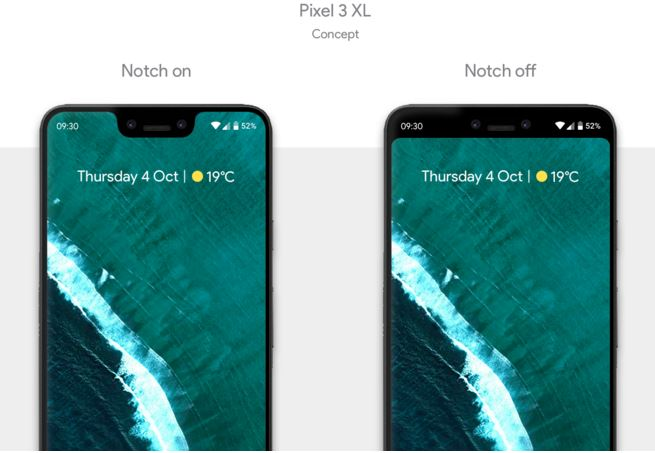 How to Hide Notch Google Pixel 3 XL
