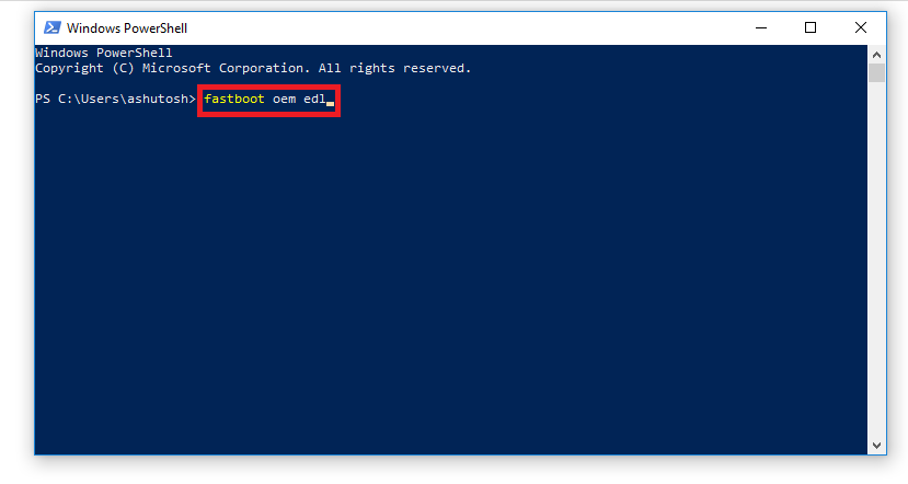 how to boot into edl mode via fastboot