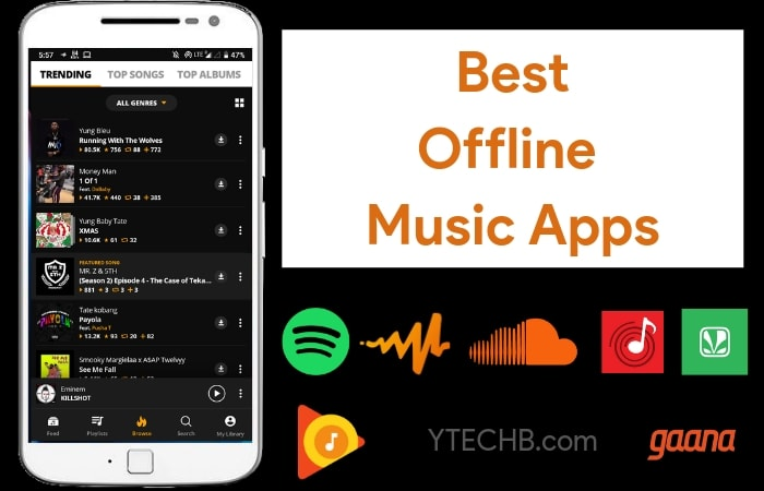 10 Best Offline Music Apps For Android in