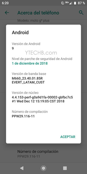 Download Moto G6 Plus Pie Update