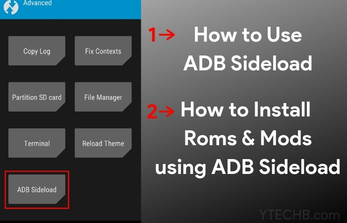 How to Sideload ROMs & Mods using ADB Sideload