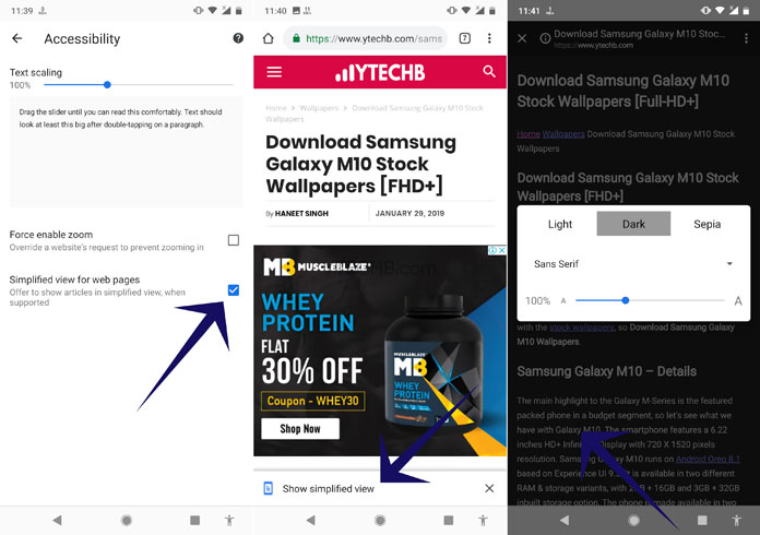 enable dark mode in chrome