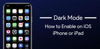 dark mode on iphone