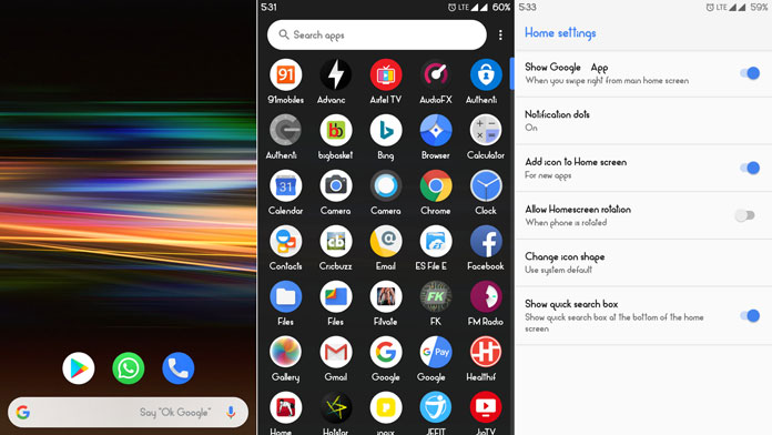 Sony Xperia 10 Launcher