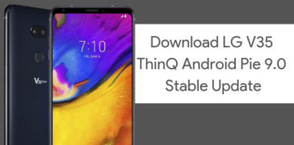 Download LG V35 ThinQ Android Pie Update