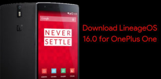 download lineageos 16.0 for oneplus one