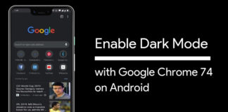 Enable Dark Mode on Google Chrome 74 for Android