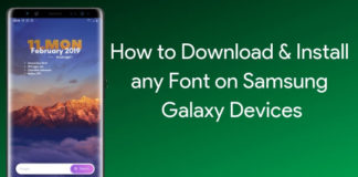 Install any font on samsung galaxy devices