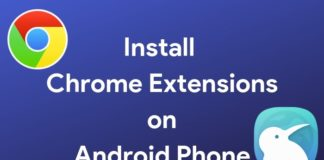 chrome extensions on Android