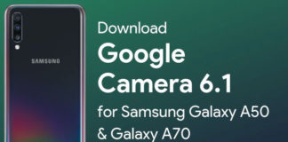 Download Google Camera 6.1 for Samsung Galaxy A50
