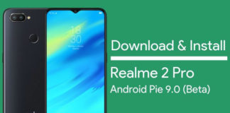 Download Realme 2 Pro Android Pie Beta Update