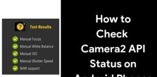 check camera2 api on android