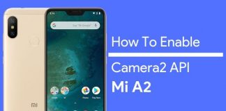 how to enable camera2 api on mi a2