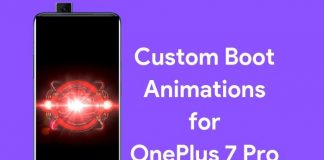 custom boot animations for oneplus 7 pro