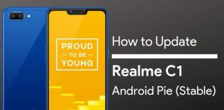 Realme C1 Android Pie Update