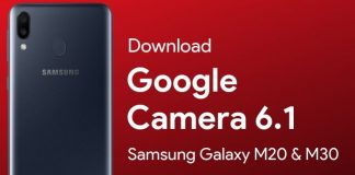 google camera for samsung galaxy m20