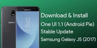 samsung galaxy j5 android pie update