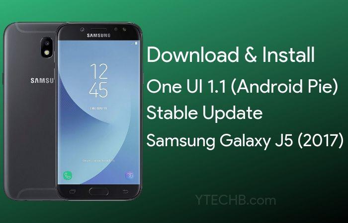samsung galaxy j5 android pie update