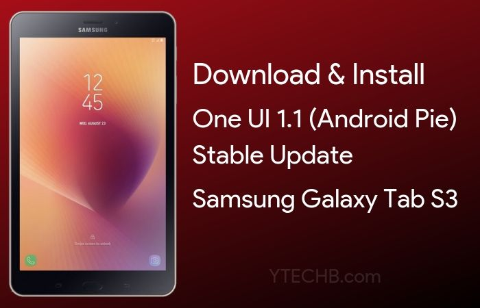 samsung galaxy tab s3 android pie update