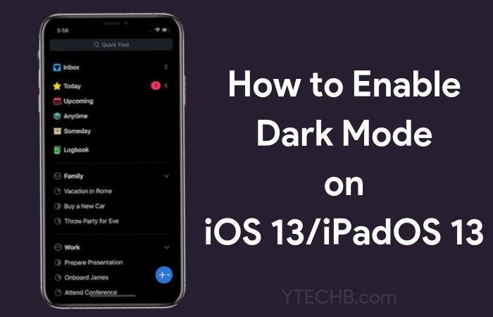 How to Enable Dark Mode in iOS 13 & iPadOS 13 [Step by Step Guide]