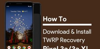 TWRP recovery for Pixel 3a