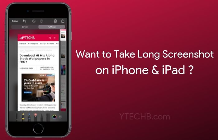 How To Take Long Screenshot On Iphone Ipad Ios 14 Updated