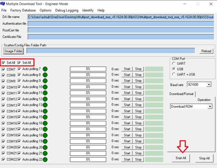 download Multiport download tool