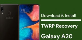 download twrp for galaxy a20