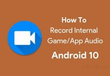 record internal game audio on Android 10