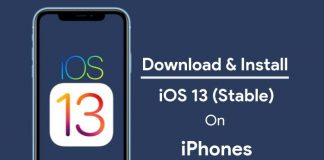 download ios 13 for iPhones