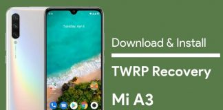 twrp recovery for mi a3