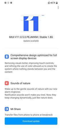 Poco F1 MIUI 11 Update