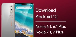 download android 10 for nokia 6.1 plus
