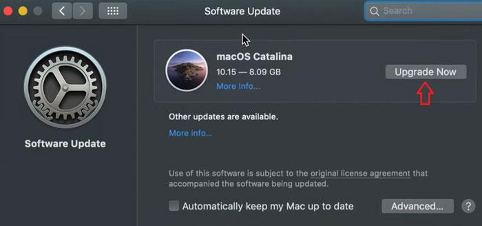 install macOS Catalina update