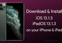 download ios 13.1.3 IPSW