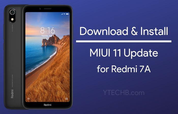 miui 11 update for redmi 7a