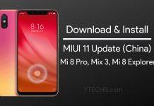 miui 11 update for mi 8 pro and mi mix 3