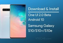 one ui 2.0 beta update for Galaxy s10