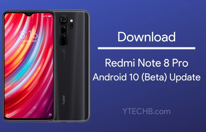 Android 10 beta update for Redmi note 8 pro