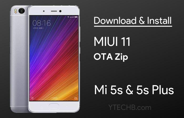Mi 5s MIUI 11 update