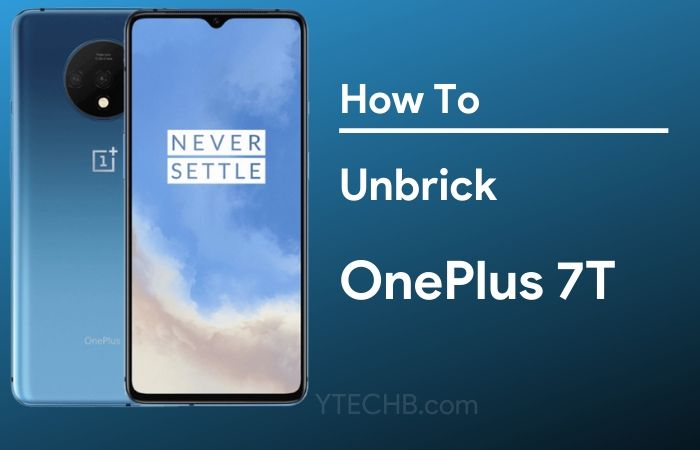 how to unbrick oneplus 7t