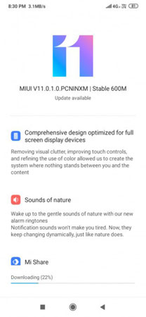 miui 11 update for Redmi 8