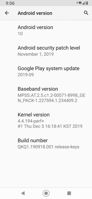 LG G7 One Android 10 Update