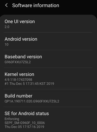 samsung s9 android 10 beta 2 update